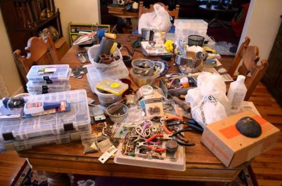Sorting beads and taking old jewelry apart