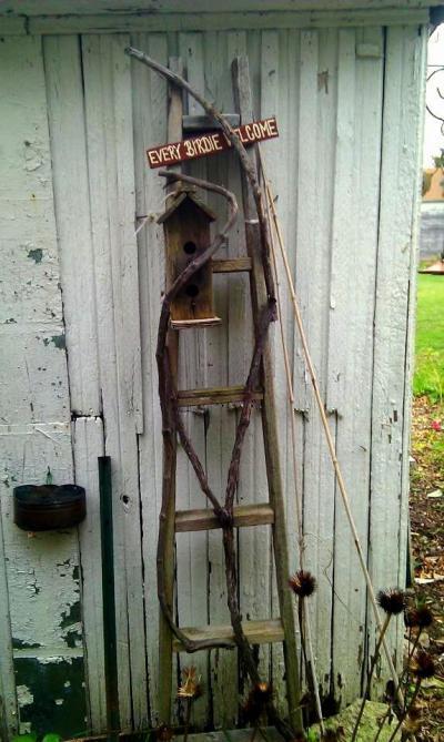 Annie Downs's rustic garden ladder