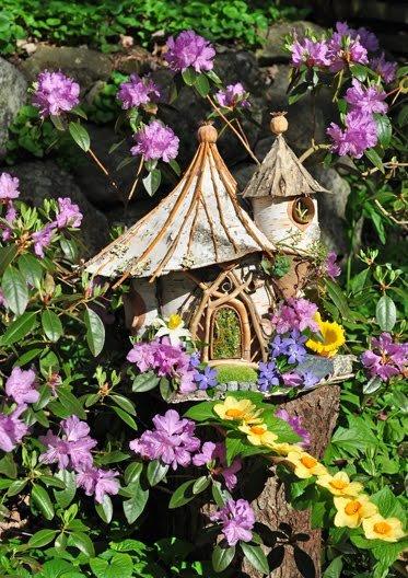 Flowery Fairy House by Sally J. Smith