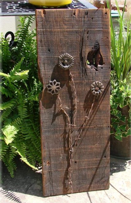 Jeanne Sammons's Barnwood Blooms fun project to make!