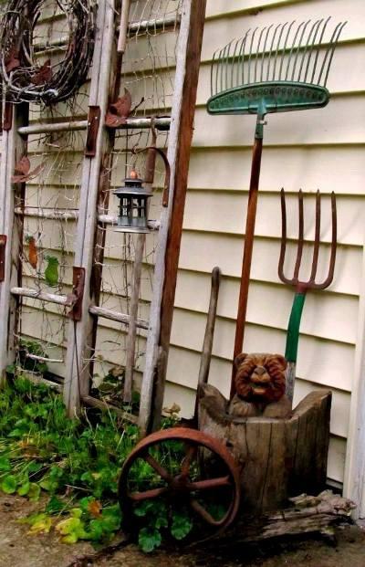 Kirk Willis's tool time ladder trellis