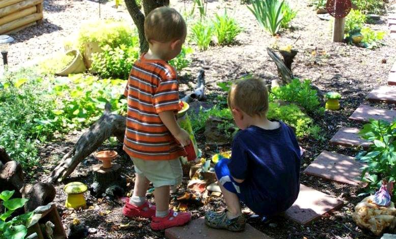 A garden fairy path any child can do!