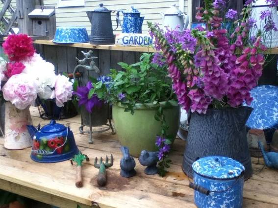 Cherrie Carine's collection of enamelware