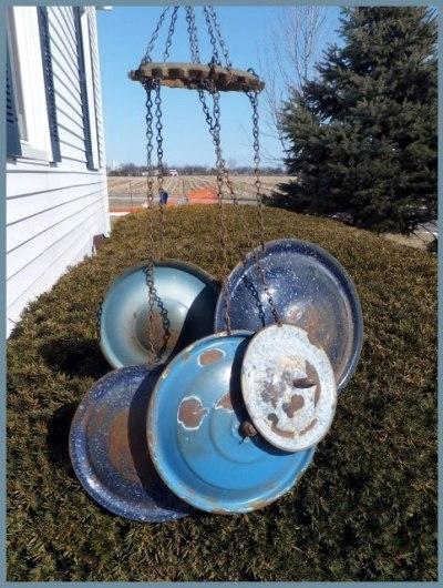 Nancy K. Meyer's Pan lid windchime