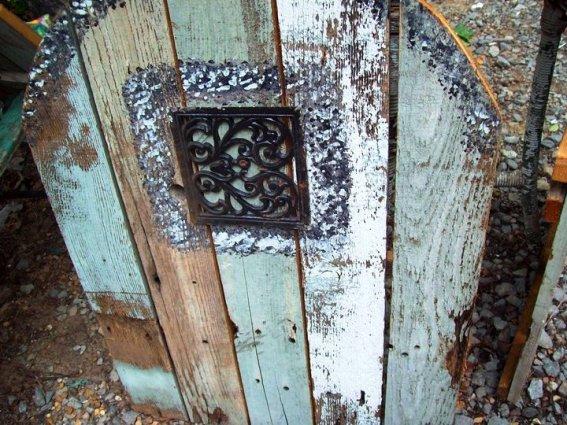 Kathy Gilbert's rustic handmade fairy door