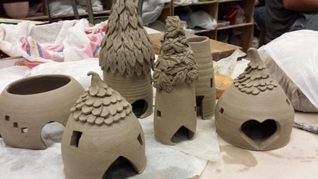 Melinda Randall's best ceramic fairy houses