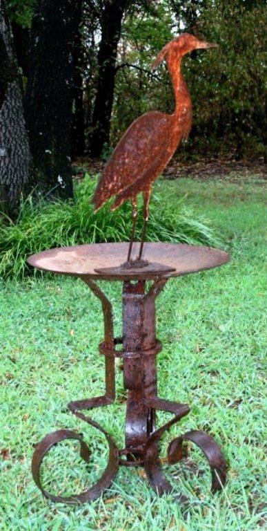 Kathleen Switzer's lovely lawn ornament