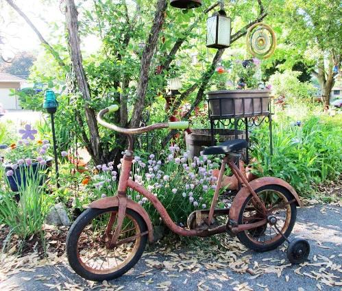 Bridget Borchert's bike looks as if a child recently parked it here