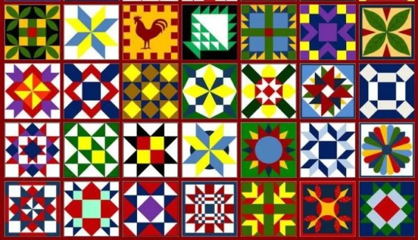 Just a few barn quilt patterns, courtesy Heritage Barn Quilts