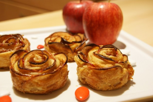 Fleurs de pomme - Apple Roses - Fleanette's Kitchen