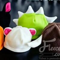 Halloween Hat Pack - free fleece animal hat patterns
