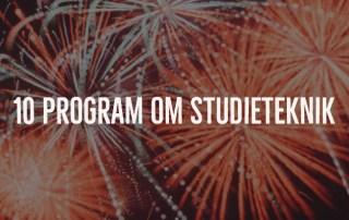 10 program om studieteknik