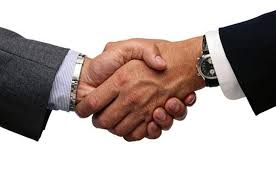 skaka hand