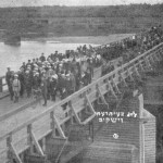 The long bridge over Bug River in Wyszków. This is the same bridge that Rabbi Samuel Cywiak and his father were forced across by Nazi soldiers during their death march. Photo courtesy of Israel Pshetitsky of the Wyszków Association in Israel.