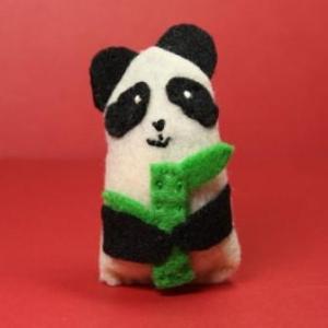 Catnip Cat Toy - Panda holding bamboo