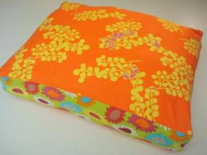 Small Pet Bed Anna Maria Horner Mingling Receiving Line Sunflowers Orange Green $45