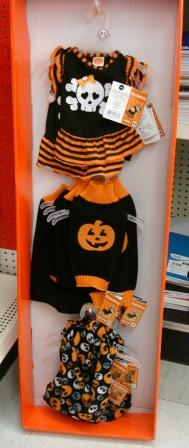 Cat Halloween Costume Selection in Store