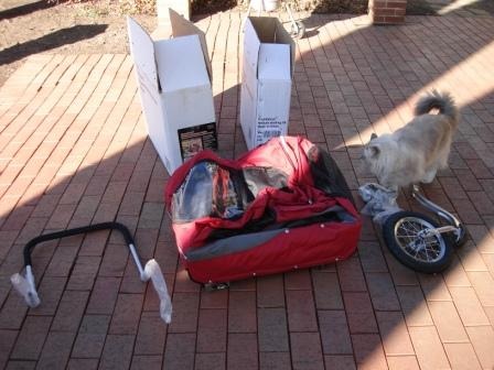 Solvit Products HoundAbout™ Bicycle Trailer with optional Stroller Kit in parts