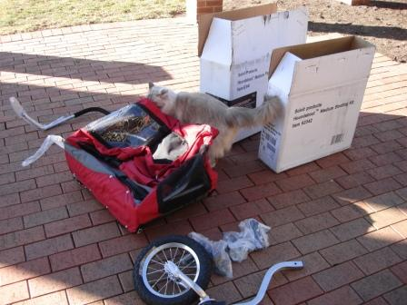 Solvit Products HoundAbout™ Bicycle Trailer with optional Stroller Kit in parts2