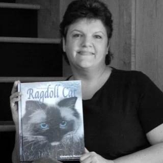 Kim Maxwell with The Friendly Floppy Ragdoll Cat