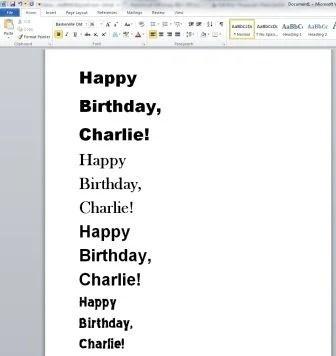 Cat Birthday Hat - Happy Birthday Font and Size Screen Shot