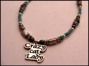 crazy cat lady anklet w849