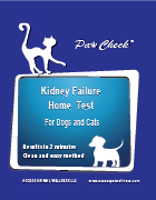 Paw Check Kidney Failure Home Test