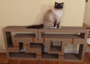 Katris Modular Cardboard Cat Scratcher Furniture Review by Floppycats2