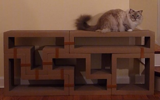 Katris Modular Cardboard Cat Scratcher Furniture Review by Floppycats5