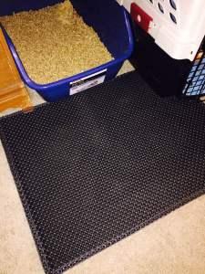 Moonshuttle Blackhole Cat Litter Mat