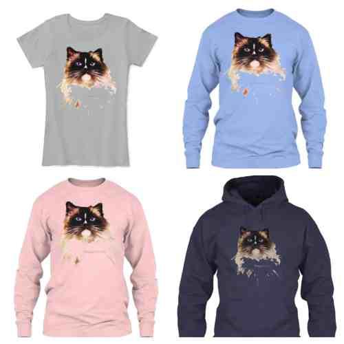 Limited Edition Ragdoll Cat Charlie Apparel