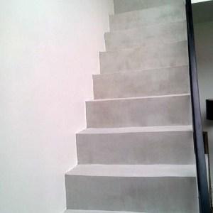 escalier béton cire Flore Molinaro