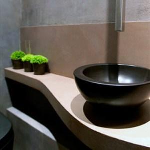 Plan vasque béton ciré