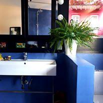 Création Béton & Lumière Flore Molinaro Salle de bain en béton ciré