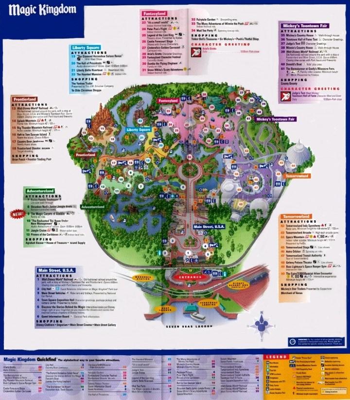 Magic Kingdom Map. Printable Map Of Magic Kingdom 2016. View Original ...