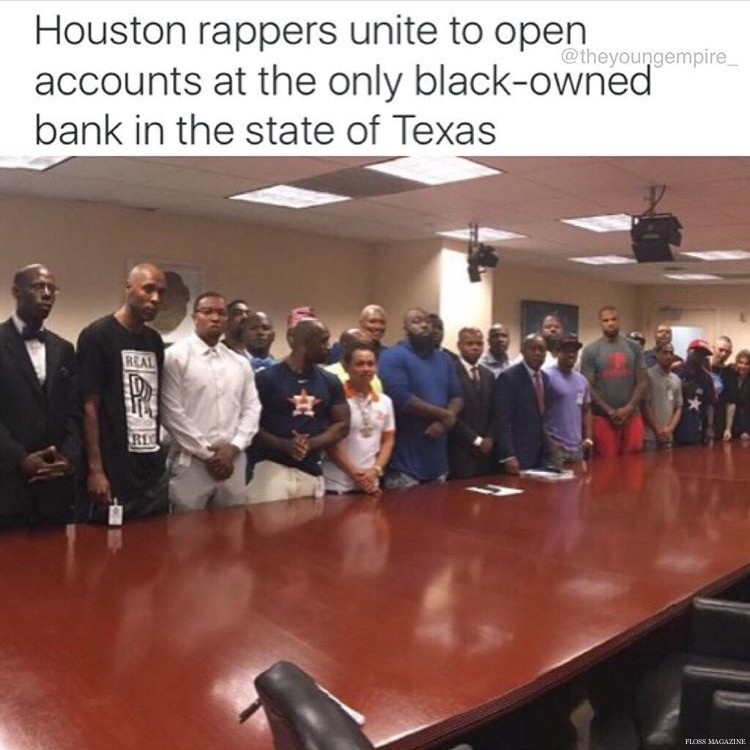 Houston Rappers Came Together Opened Accounts at Black Owned Unity National Bank in Texas