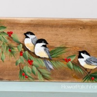 Learn How to Paint a Chickadee Bird