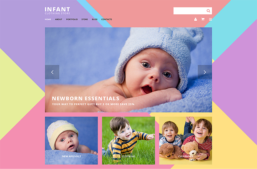 infant clothign store theme