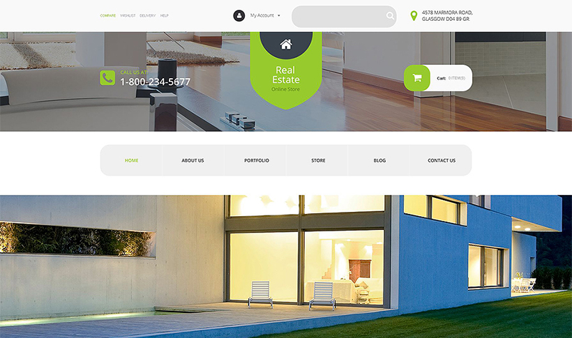 wordpress real estate template