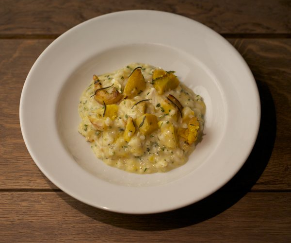Butternut Squash Rissotto with Brockmans Gin
