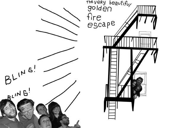 golden fire escape