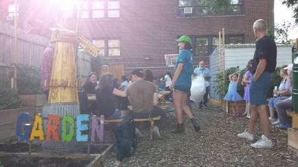 The Windmill Community Garden, co-founded by Flux, is now open to the public
