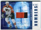John LeClair 2001 02 ITG Be a Player In the Numbers Jersey 10 AA665