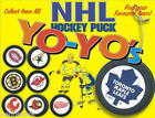 NHL HOCKEY TWO SIDED MINI GOALIE PUCK YO YOS GIFTS CAKE TOPPERS RETIRED IN 2001