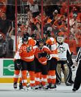 FLYERS VS NJ DEVILS 4 1 17 SECTION 107 LOW ROW 3 TWO TIXS FLYERS SHOOT TWICE