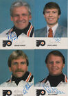 1986 87 PHILADELPHIA FLYERS POSTCARD BERNIE PARENT AUTOGRAPH