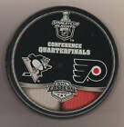 Pittsburgh Penguins 2009 Philadelphia Flyers NHL Puck Stanley Cup Con 1 4 FINALS