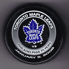 Philadelphia Flyers 2008 Toronto Maple Leafs NHL Puck Purolator Jan 5 2008Tuff