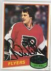 BILL BARBER1980 TOPPS AUTOGRAPHED HOCKEY CARD JSA