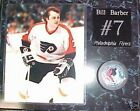 Bill Barber Philadelphia Flyers Signed Puck on 12x15 Hockey Plaque New